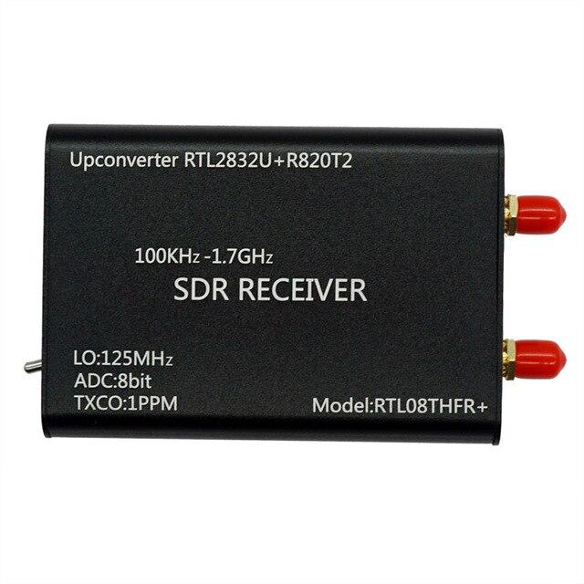 100KHz-1.7GHz Upconverter+1PPM TXCO RTL-SDR Receiver RTL2832U+R820T2 SDR Radio RTL08THFR+ SDR
