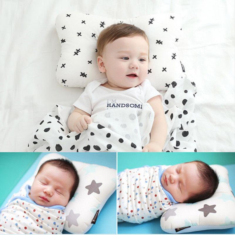 Pudcoco 2020 Toddler Baby Infant Newborn Sleep Positioner Support Pillow Cushion Prevent Flat Head Baby Pillow