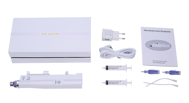 mini derma pen water injector beauty machine set