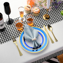 Tableware Dinner-Plate Disposable Support Ps-Material Custom-Logo Party Chinese-Style