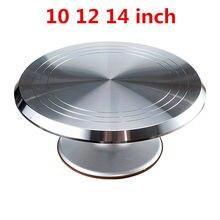 Подставка для торта, инструмент для выпечки, 10, 12, 14 дюймов, кремовый стол для торта, поворотный стол, подставка, основание, поворотный стол дл...