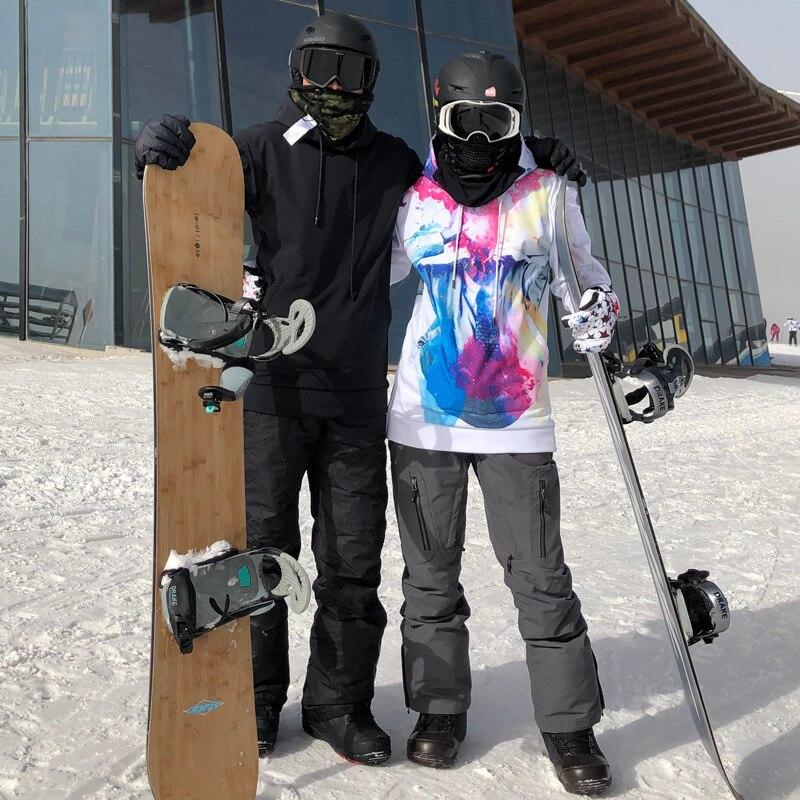 Vestes de Ski d'hiver sweat à capuche pour femme chaud hommes manteaux de neige imperméable Snowboard femme vêtements coupe-vent en plein air filles Ski costumes