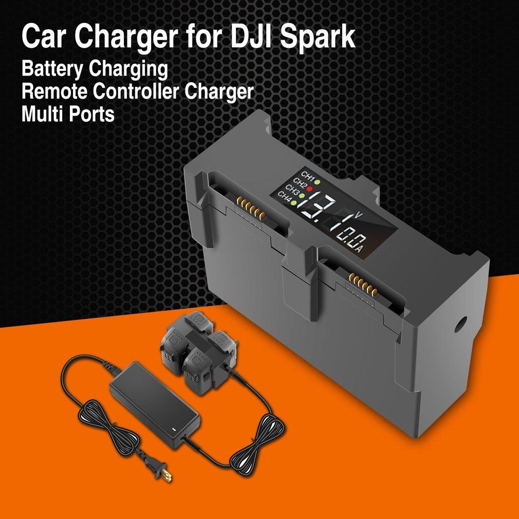 Зарядное устройство для DJI Spark Drone втулка для быстрой зарядки с европейской вилкой мульти батарея 4 порта зарядное устройство для путешествий транспорт наружное зарядное устройство БПЛА