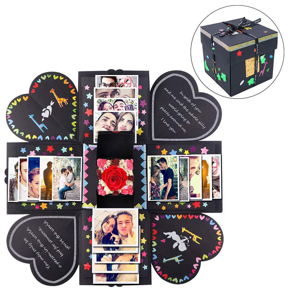 Surprise Love Explosion Box Valentine'S Day Gift Explosion For Anniversary Scrapbook DIY Photo Album Birthday Wedding Party Gift