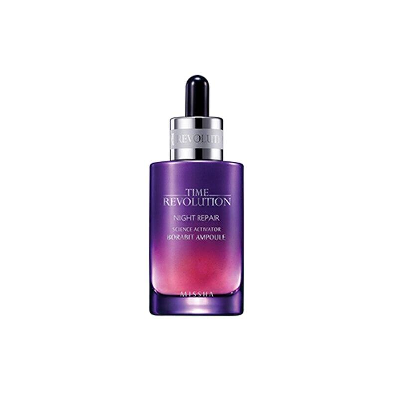 Ampolla Borabit para reparación nocturna MISSHA Time Revolution 50 ml, suero Facial blanqueador, esencia de tratamiento hidratante antiarrugas