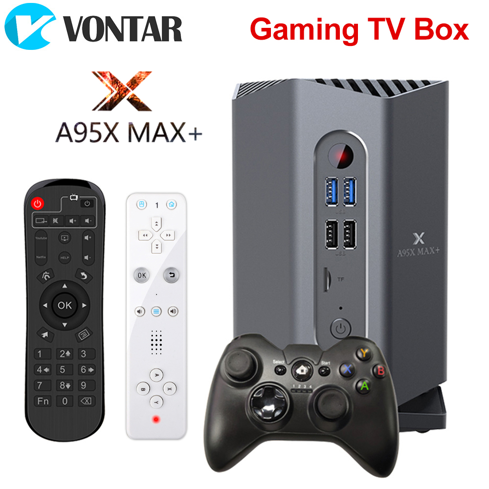 Gaming TV Box Android 9.0 A95X MAX Plus Amlogic S922X  USB3.0 1080P H.265 4K 75fps Google Player Store Plex Media Server Top Box