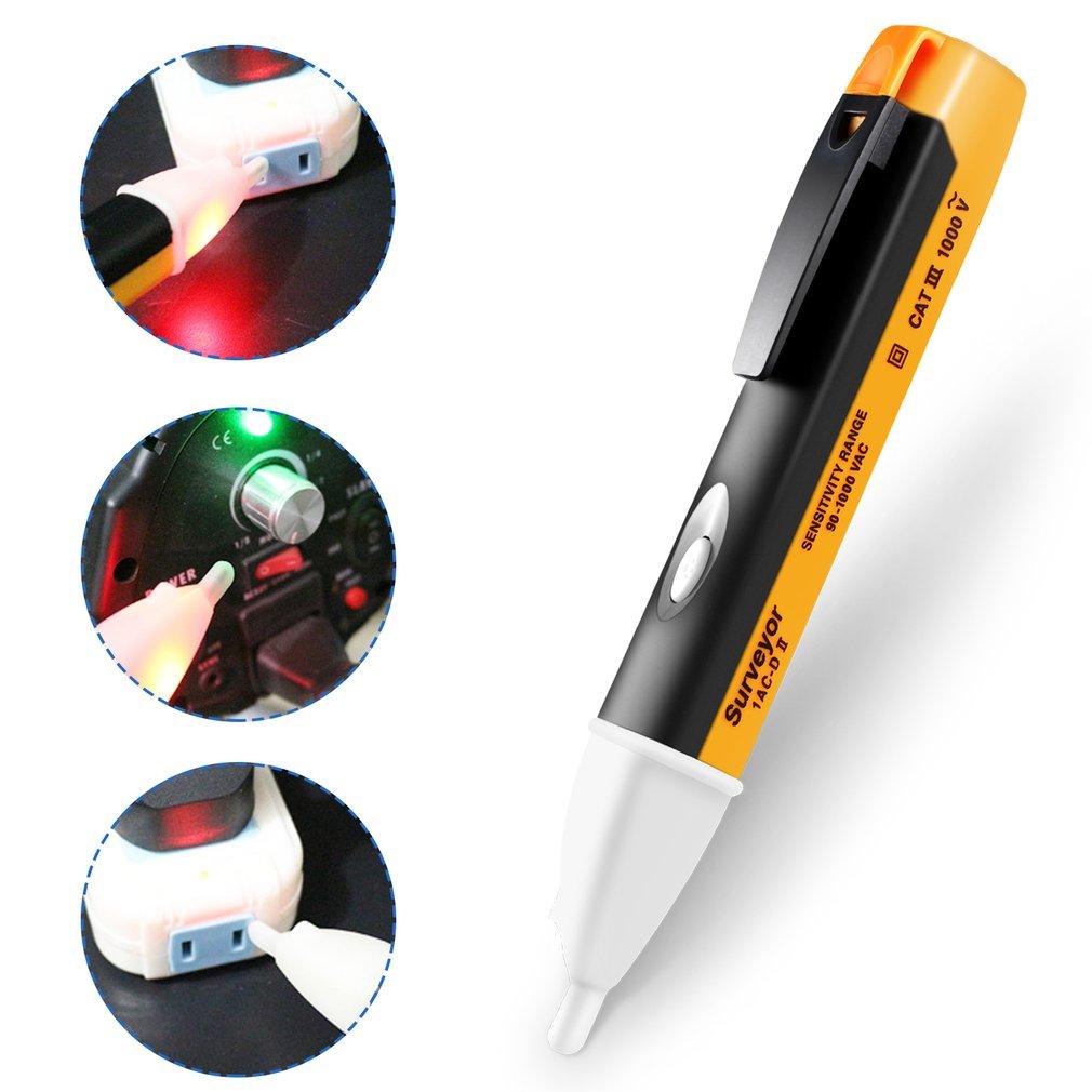 Socket Wall AC Power Outlet Voltage Detector Sensor Tester Electric Test Pen LED Light Voltage Indicator 90-1000V Worldwide Shop