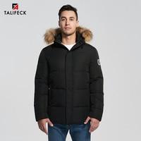 2020 Men Parka Winter Jacket Parka Fur Thick Cotton Coat Hooded Alaska Parka Homme Real Raccoon Fur Men Winter Coats Overcoat