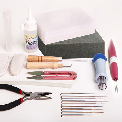 Wool Felt Tool Box Material Package Accessories Tool Kit Felt Needle-nosed Pliers Glue Foam Workbench Finger Cover Unfinished