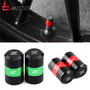 With LOGO Z MOTORCYCLE Aluminum Wheel Tire Valve caps For KAWASAKI New Z400 2019 Z900 Z1000 Z300 Z650 Z750 Z800 Z900 All Year