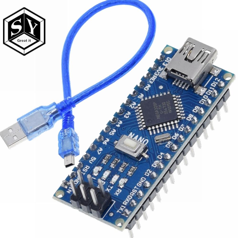 1 шт. контроллер GREAT IT Nano 3,0 nano CH340 USB драйвер ATMEGA328 ATMEGA328P nano Mini USB с Загрузчиком для arduino