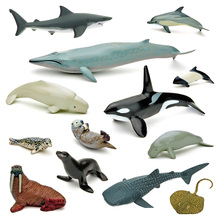 Collectible-Toys Devil Manatee Figurine Model Shark 14pcs Walrus Cowfish Dugong Rays