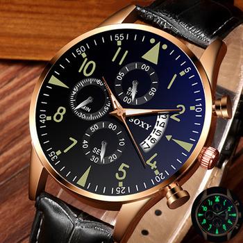 Męskie zegarki zegar relogio masculino SOXY męskie zegarki klasyczny złoty kalendarz kwarcowy mężczyźni zegarek kwarcowy Luminous saati godziny tanie i dobre opinie 20cm Sport QUARTZ Nie wodoodporne Klamra STAINLESS STEEL 10mm Hardlex Kwarcowe Zegarki Na Rękę Nie pakiet Skóra 42mm