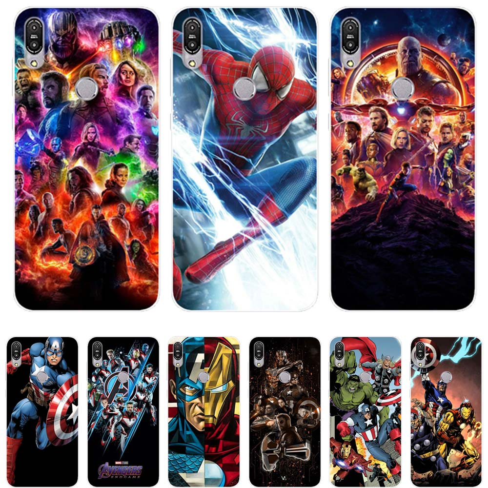 Fashion spider-man Clear Soft TPU For <font><b>Asus</b></font> Zenfone Max Pro M1 <font><b>ZB601KL</b></font> ZB602KL Case Cover Matte Painting Cases Coque Capinhas image