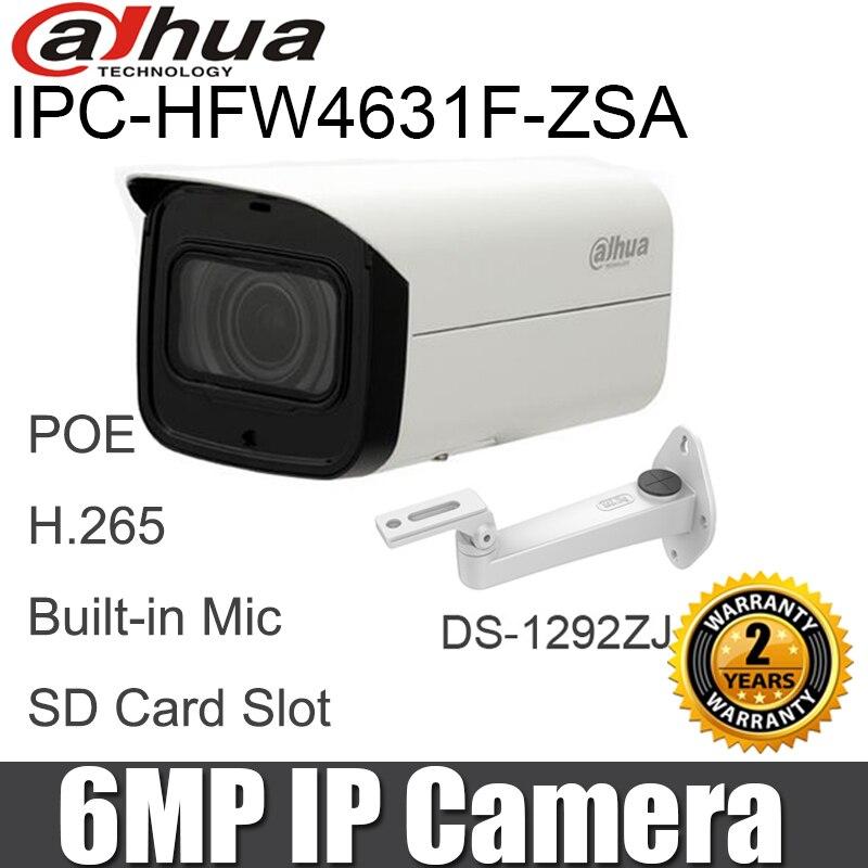 Oryginalny IPC HFW4631F ZSA 6MP kamera IP 2.7 13.5mm soczewki z napędem silnikowym H.265 wbudowany mikrofon gniazdo kart SD bullet aparat bezpieczeństwa w Kamery nadzoru od Bezpieczeństwo i ochrona na AliExpress - 11.11_Double 11Singles' Day 1
