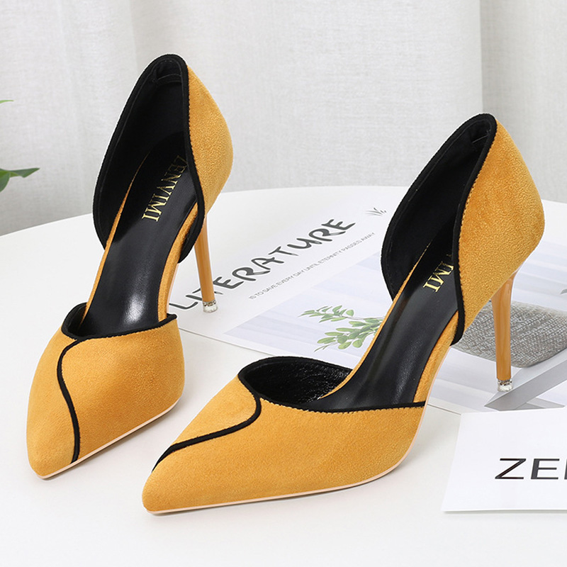 BIGTREE Shoes Women Heels Mixed Color Sexy High Heels Women Pumps Party Wedding Shoes Stiletto Pointed Kitten Heels Ladies Shoes