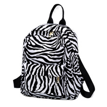 Girl Leopard Print Backpack Ladies Makeup Bags Package Oxford Cloth Back to School Student Shoulder