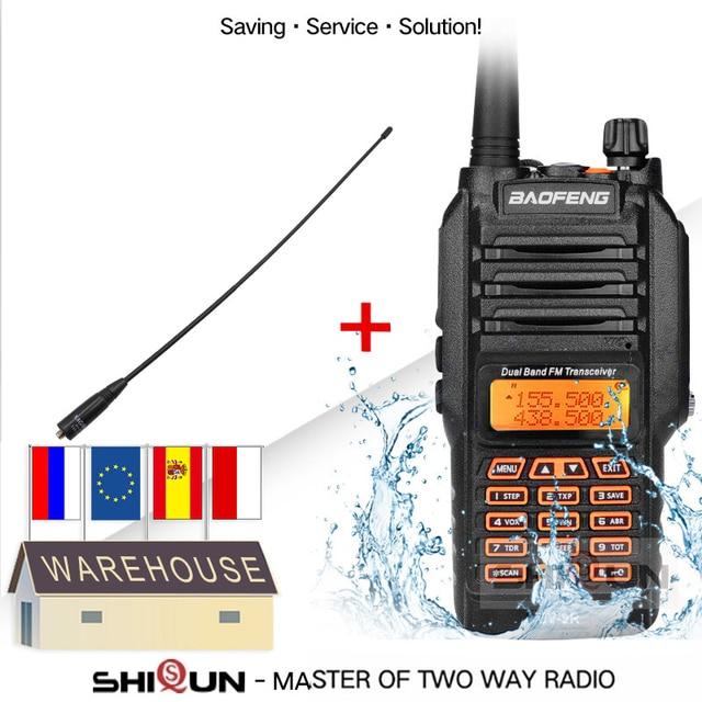 UV 9R with Headset Microphone IP67 Waterproof Dual Band Radio 10KM Baofeng 8W Walkie Talkie 10 KM UV 82 UV 5R UV XR UV 9R Plus