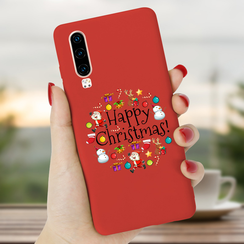 Christmas Case For <font><b>Huawei</b></font> P Smart Case 2018 <font><b>2019</b></font> <font><b>Silicone</b></font> Soft <font><b>Capa</b></font> For <font><b>Huawei</b></font> Y6 Prime 2018 <font><b>2019</b></font> <font><b>Y5</b></font> Lite Back Cover PSmart Plus image