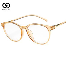 Fashion Clear Glasses Frame for Women Vintage Round Eye Female Frames