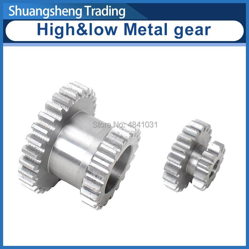 2pcs High&low Metal Transmission gear T29xT21&T20xT12 SIEG C2&C3 JET BD-6 Metal Lathe Main shaft duplicate double gear
