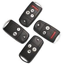 Bilchave 2/3/4ปุ่มรีโมทคีย์เชลล์สำหรับHonda Accord CR V HR V Fit City Jazz Odysseyรถรับส่งCivicรถkeyless Key Case