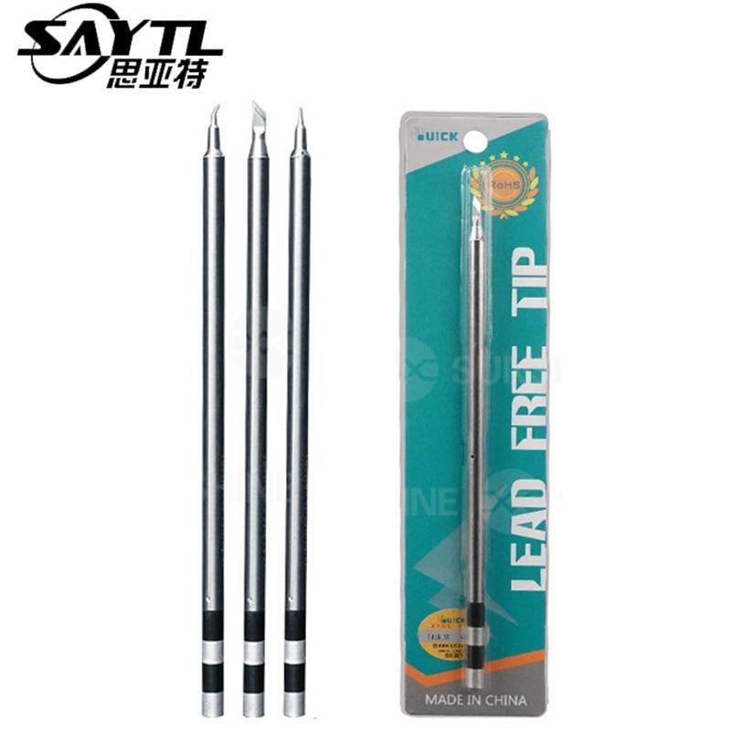 Original QUICK TS1200A Lead Free Solder Iron Tip Handle Welding Pen Tools TSS02B-I-02 TSS02B-J-02 TSS02B-SK-02