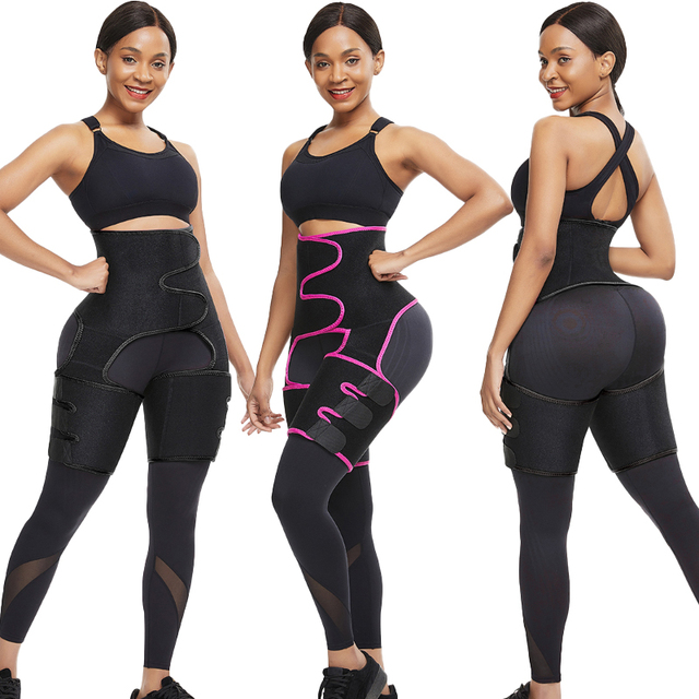 Neoprene Slim Thigh Trimmer Leg Shapers Slimming Belt Waist Trainer Sweat Shapewear Fat Burning Compress Belt 4