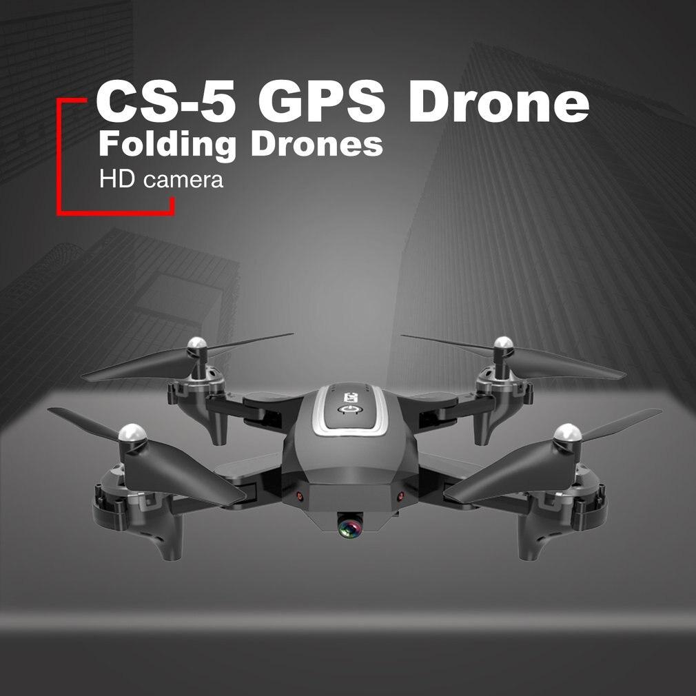 CS 5 zangão de gps com 1080 p hd câmera de dobramento drones quatro eixos helicóptero um retorno chave wifi fpv rc helicóptero menino brinquedos