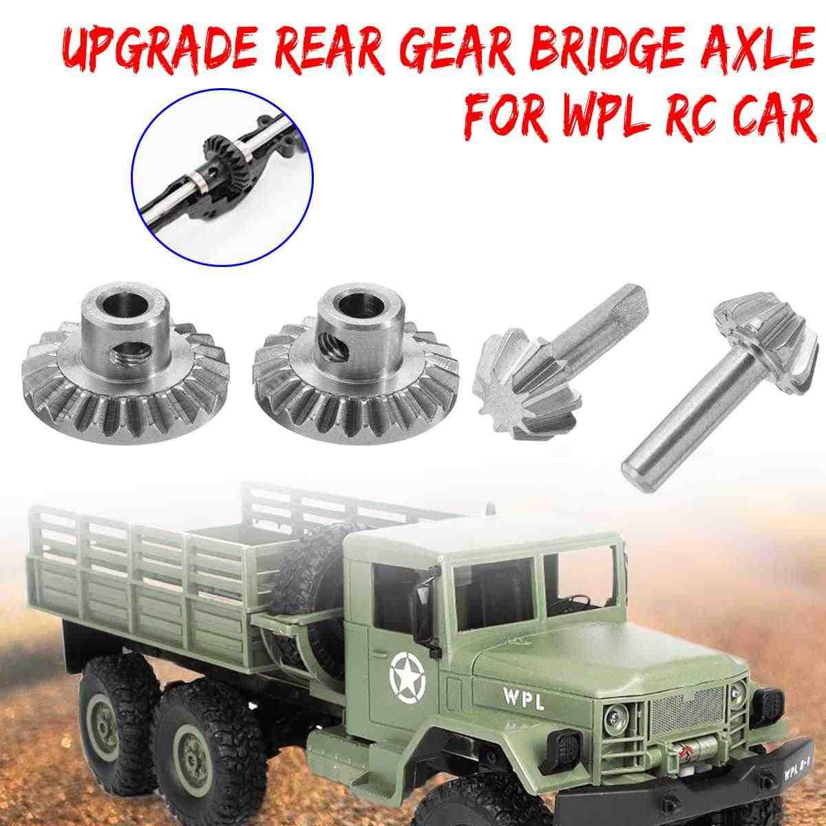 Rvs Upgrade Rear Gear Brug As Set Kit Voor WPL RC Auto Vrachtwagen Onderdelen Grote Kleine Gemakkelijk te Installeren duurzaam