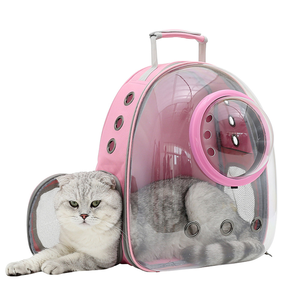 Transparent Pet Space Capsule Breathable Carrying Cat Bag Travel Small Dog Backpack Portable Outing Kitten Puppy Carrier Bag