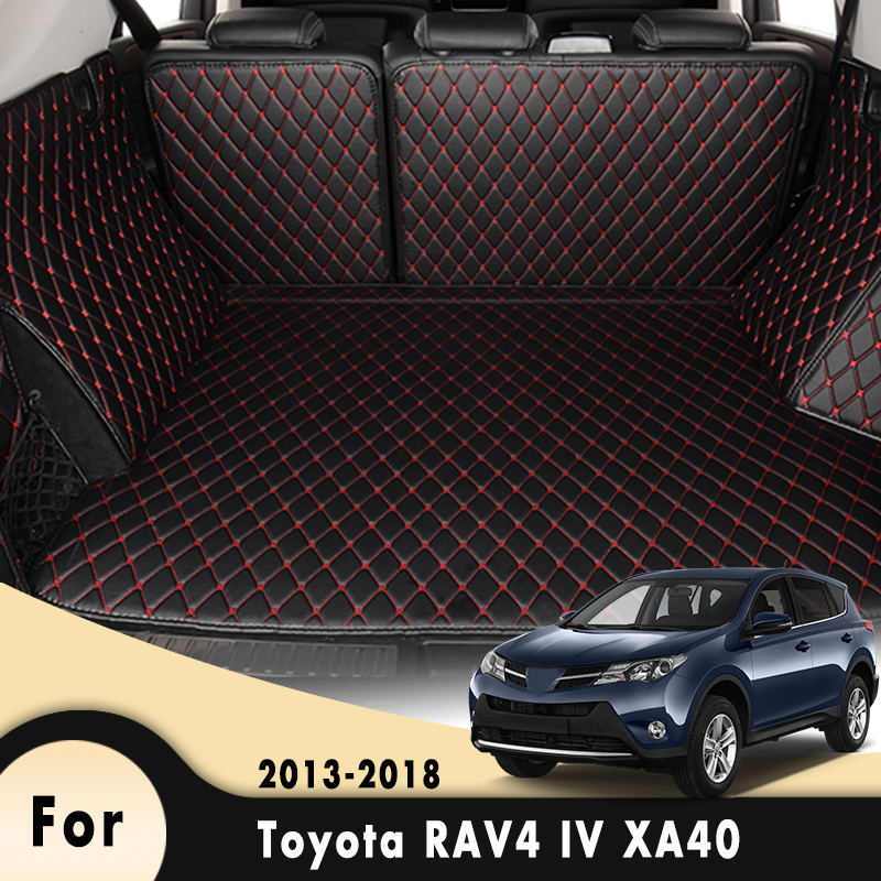 Car Cargo Liner Floor Trunk Carpet Floorliners Auto Interior Accessories For Toyota RAV4 IV XA40 2013 2014 2015 2016 2017 2018