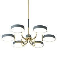 Nordic minimalist light luxury living room chandelier Personality LED bedroom color dining room lamp European home lighting|Chandeliers| |  -