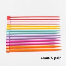 Conjunto de agujas de costura manual, ganchos de ganchillo, colores surtidos, utensilios con agujas de tejer de plástico, Kit de aguja para Jersey de colores, 1 par