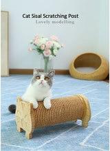 Sisal Cat Scratching Post Nature Pine Climbing Frames Furniture Pet Kitten Scratchers Board Training Toys For Pets