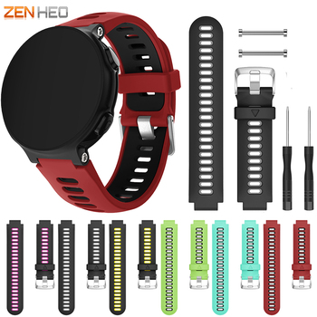 Replacement Watch band Silicone Strap Bracelet for Garmin Forerunner 735XT wristband for Garmin Forerunner 230 / 235 / 220 / 620 garmin forerunner 735xt hrm run blue