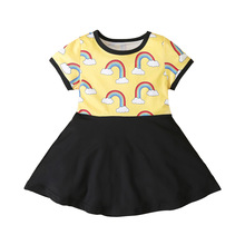 New Baby Girls Princess Dress Tollder Kids Christmas RainBow Unicorn Rainbow Dresses Clothes Infantil Children Clothing