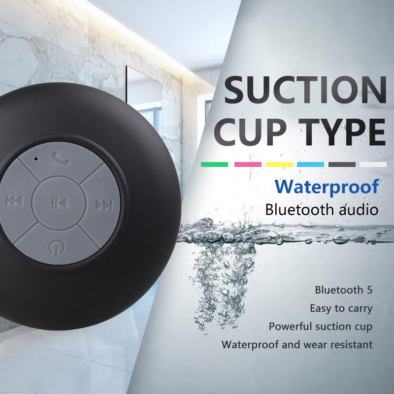Waterproof Wireless Bluetooth Speaker Portable Mini Speaker Shower Suction Cup Anti-drop Bathroom Bathing Child Small Speaker