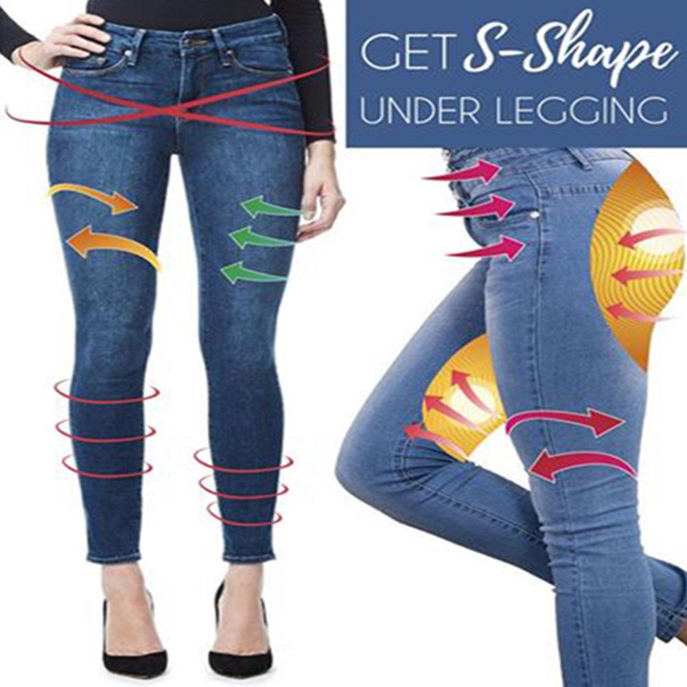 New Hot Women Legs Shaping Leggings Fake Jeans Pants Pull-on Skinny Elastic Trousers warm jeans jeans pants