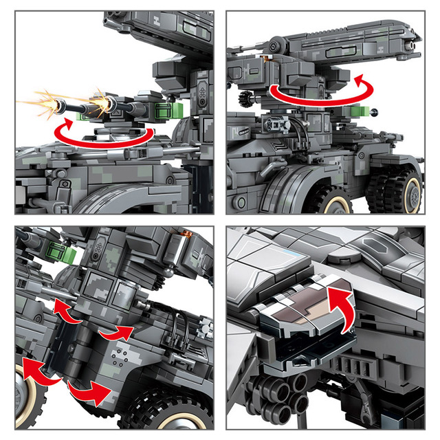 SWAT Military Drone Aircraft Car Building Blocks Technic WW2 Fighter Plane Army Figures Sets Movie Model Bricks Toys For Boys