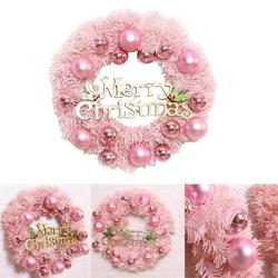 30/40cm Christmas Decoration Pink Christmas Wreath Rattan Ring Shopping Mall Window Scene Ornaments Artificial Christmas Wreath 1