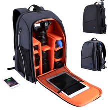 цена на Multi-functional Camera Backpack Video Digital DSLR Bag Waterproof Outdoor Camera Photo Bag Case for Nikon/ for Canon/DSLR D25