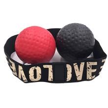 Боксерский скоростной мяч+ головная повязка черный красный боксерский удар Упражнение бой Мяч реакция рефлекторный мяч фитнес Hott реакционный боксерский мяч# C