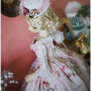 Image 2 - Bjd Roze Jurk Pop Lange Jurk + Hoed + Jurk Ondersteuning + Sokken Voor 1/6 1/4 1/3 Bjd Giant Baby pop Accessoires Een Pak Bjd Kleding