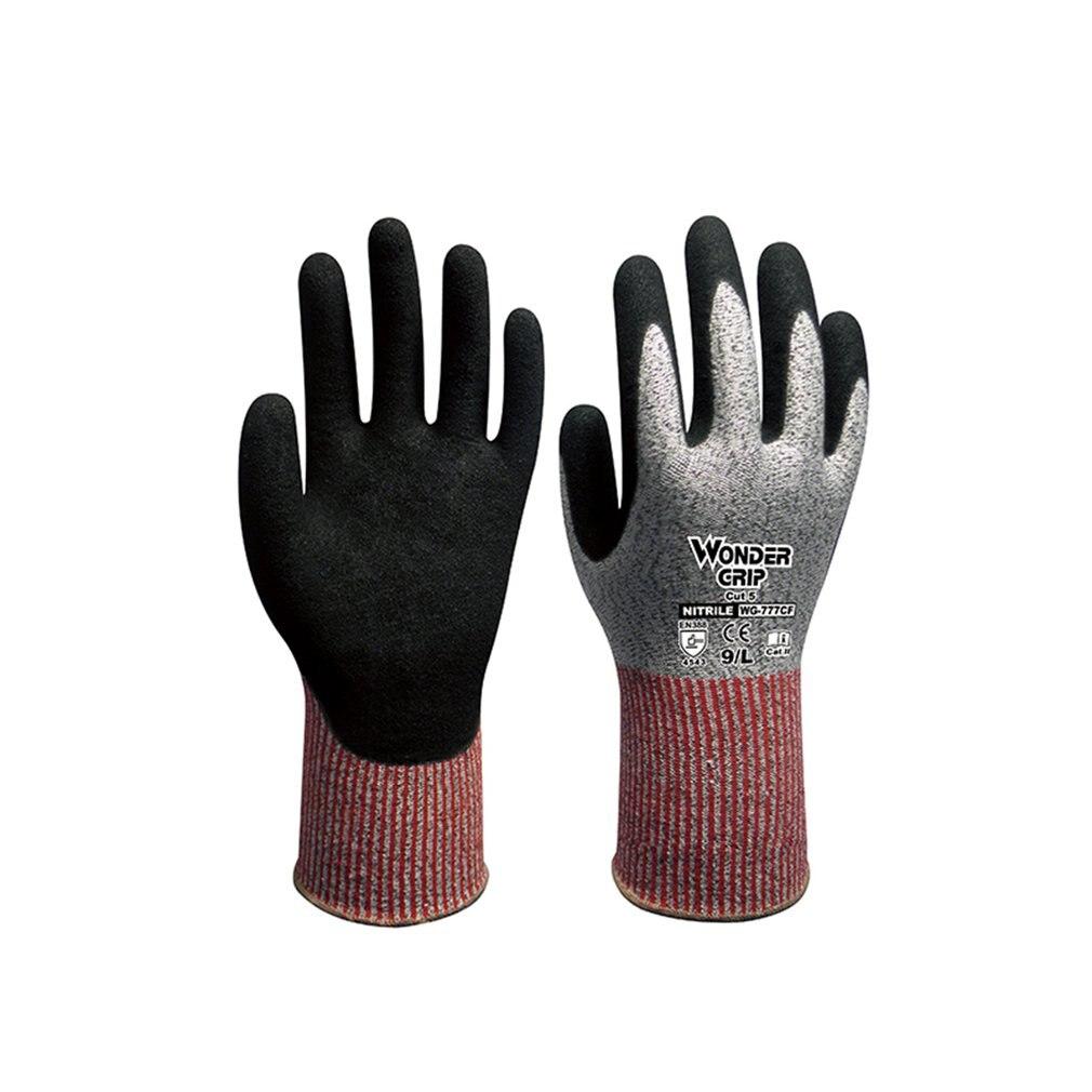 Duogeili Wonder Grip CE Cut Proof Anti Cut Gloves Universial Five-level Anti-cutting Oil-proof And Wear-resistant Glove EN 388