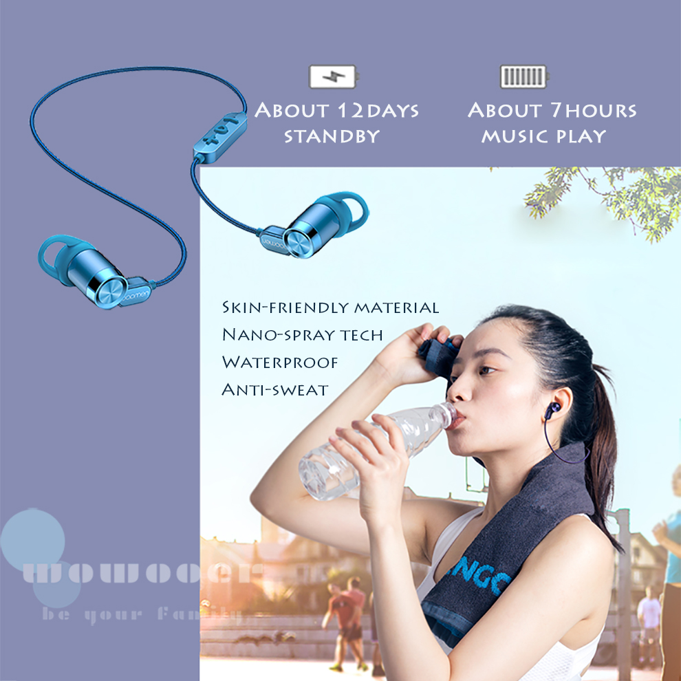 wireless neckband headphone sport handsfree bluetooth headset Active Noise Control Bluetooth Earphone Create a private World
