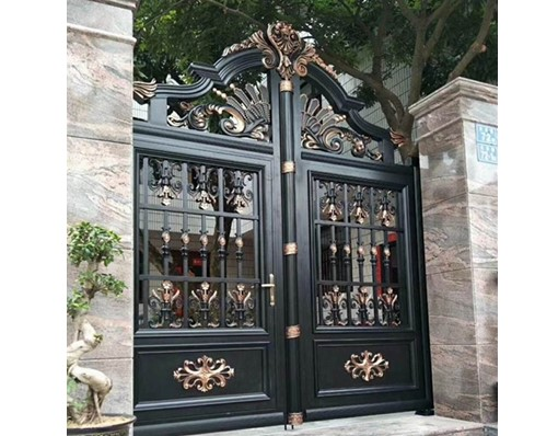 Aluminum Arbor Auto Estate Gates Arched Frame Guardian Valve Drawing Door And Fence For Driveway Malaysia