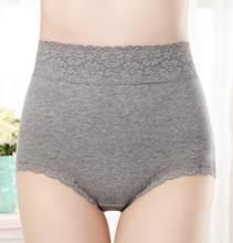 3 pçs/lote calcinha feminina antibacteriana algodão puro cintura alta plus size roupa interior feminina algodão abdômen corpo moldar tamanho grande