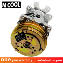 3PICS AC Air Conditioning Compressor 505 5H09 12V 24V Belt Pulley Tractor Excavator Heavy Duty Truck Universal