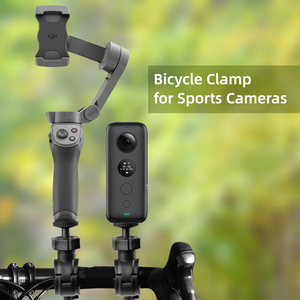 Portable Bicycle Clip Holder For Insta360 ONE X/EVO For Bike Holder Motorcycle Handlebar For 360 Camera For Travelling Outdoor